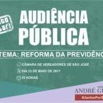 Audiência Pública – Reforma da previdência