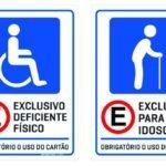 Cartão de Estacionamento para Vaga Especial